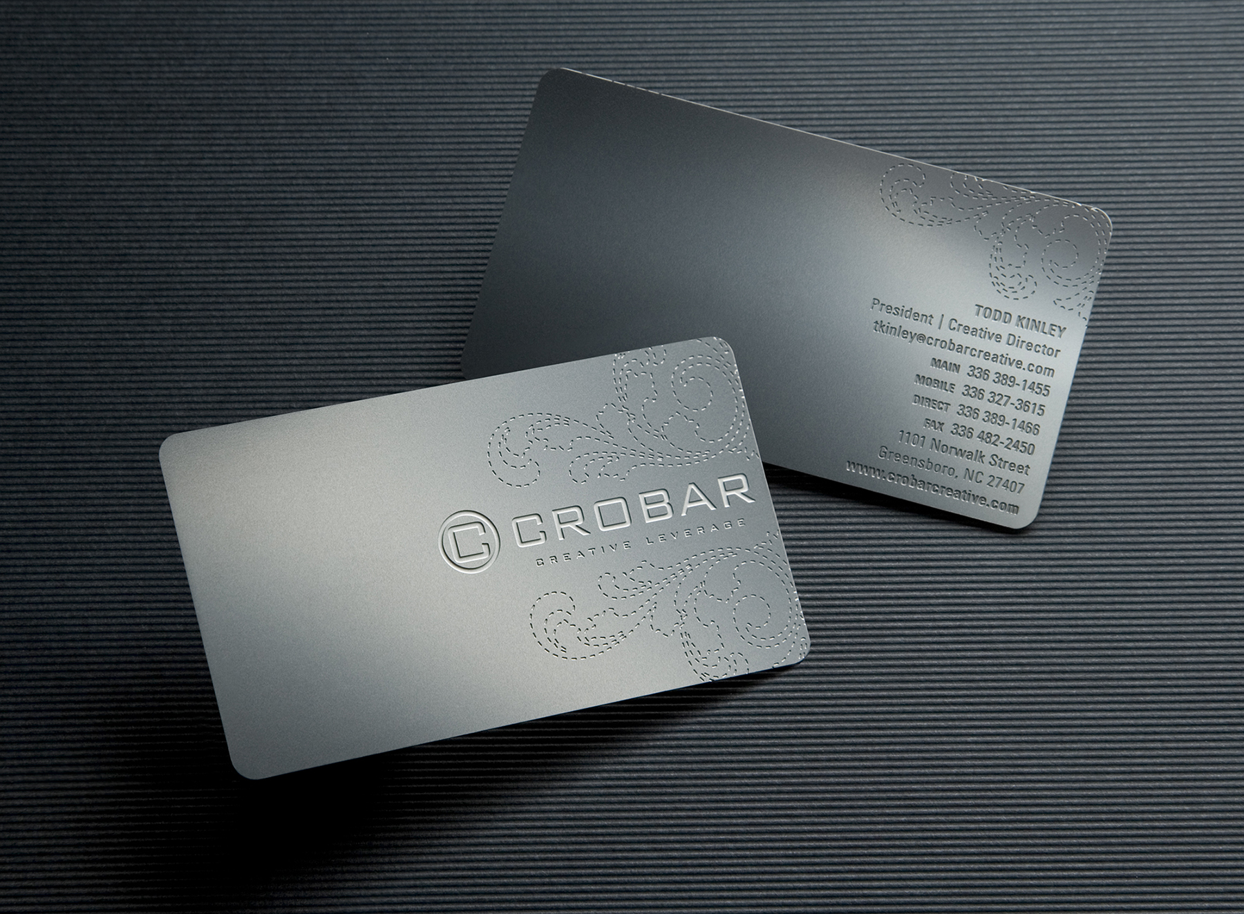 Crobar metal business card crobar creative leverage crobar metal business card reheart Image collections